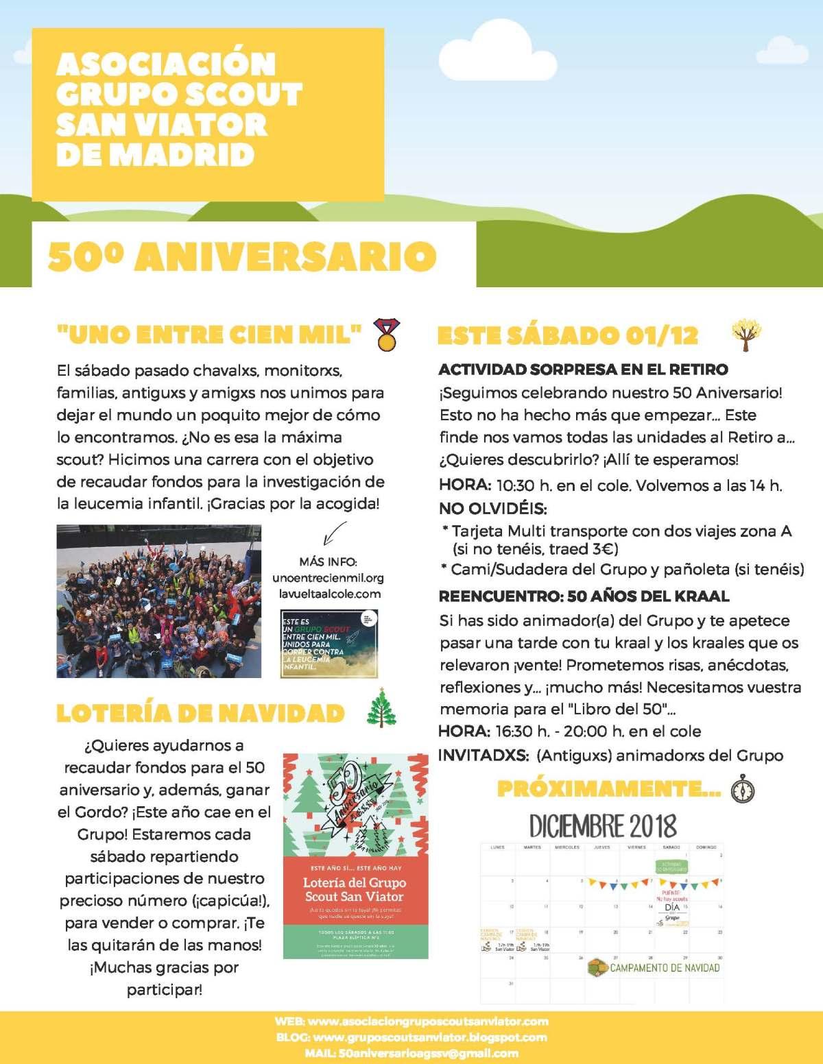 ¡NEWS! 50 Aniversario AGSSV. Noviembre